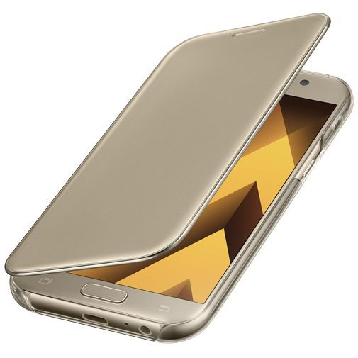 Productafbeelding van de Samsung Clear View Cover Gold Galaxy A5 (2017)