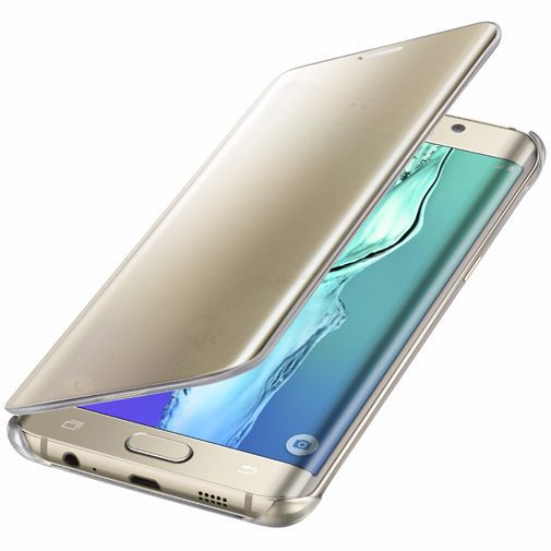 Productafbeelding van de Samsung Clear View Cover Gold Galaxy S6 Edge Plus