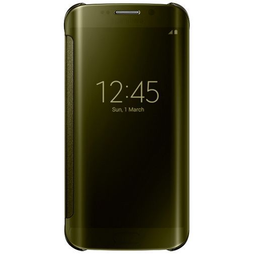 Productafbeelding van de Samsung Clear View Cover Gold Galaxy S6 Edge