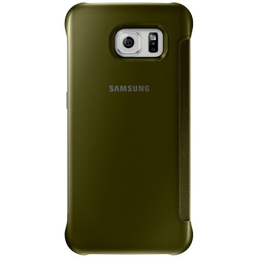 Productafbeelding van de Samsung Clear View Cover Gold Galaxy S6