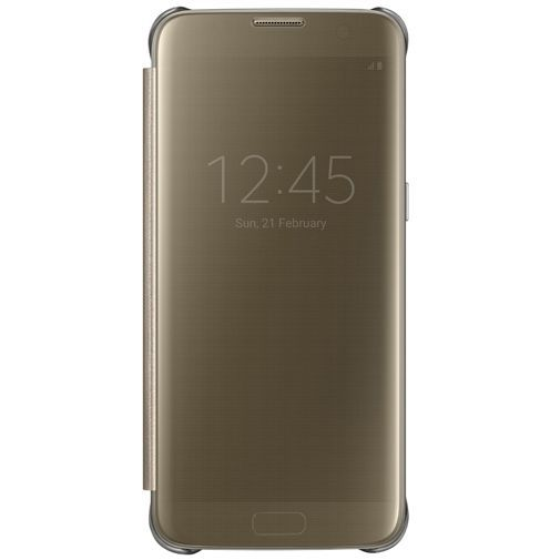 Productafbeelding van de Samsung Clear View Cover Gold Galaxy S7 Edge