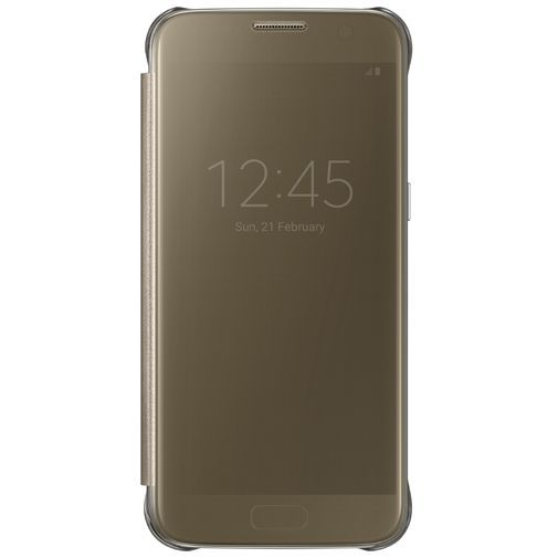 Productafbeelding van de Samsung Clear View Cover Gold Galaxy S7