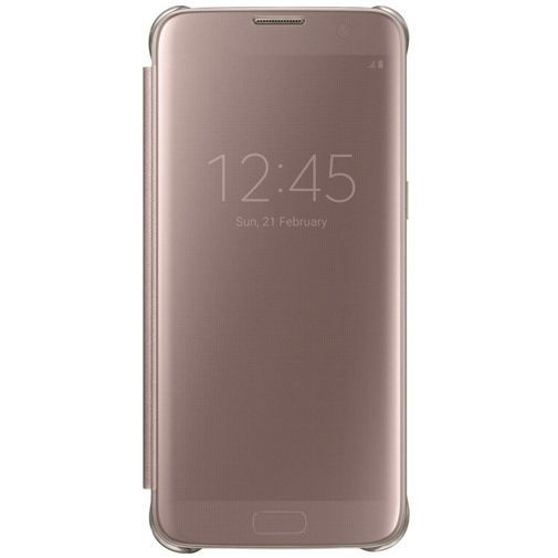 Productafbeelding van de Samsung Clear View Cover Rose Gold Galaxy S7 Edge