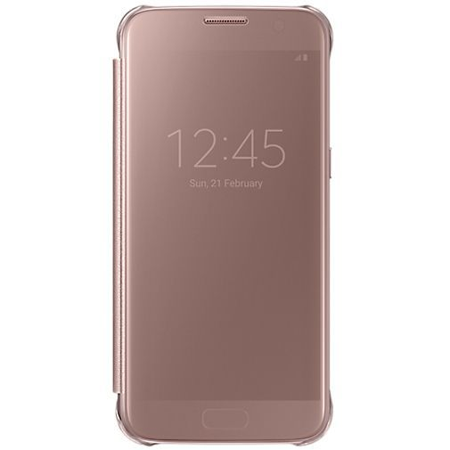 Productafbeelding van de Samsung Clear View Cover Rose Gold Galaxy S7