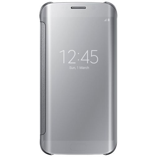 Productafbeelding van de Samsung Clear View Cover Silver Galaxy S6 Edge