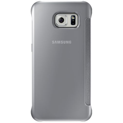 Productafbeelding van de Samsung Clear View Cover Silver Galaxy S6