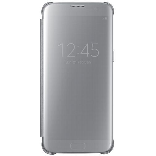 Productafbeelding van de Samsung Clear View Cover Silver Galaxy S7 Edge