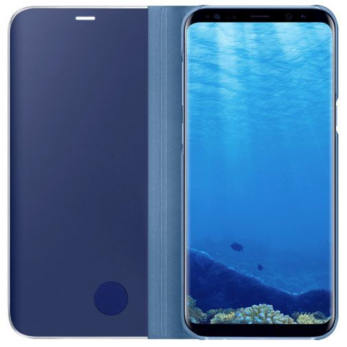 Productafbeelding van de Samsung Clear View Standing Cover Blue Galaxy S8+
