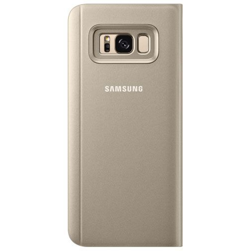 Productafbeelding van de Samsung Clear View Standing Cover Gold Galaxy S8+