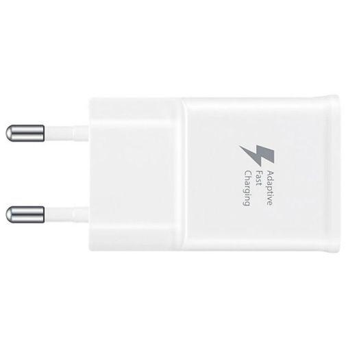 Produktimage des Samsung USB Ladeadapter mit Schnellladefunktion+ Micro-USB-Kabel EP-TA20 Weiß