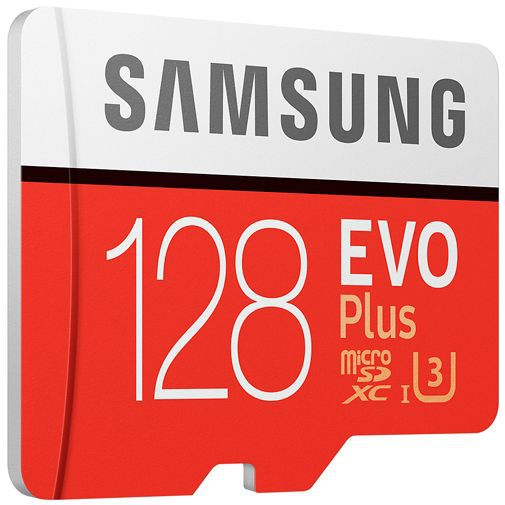 Productafbeelding van de Samsung Evo+ microSDXC 128GB Class 10 + SD-Adapter