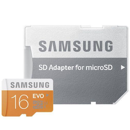 Productafbeelding van de Samsung Evo microSDHC 16GB Class 10 + SD-adapter