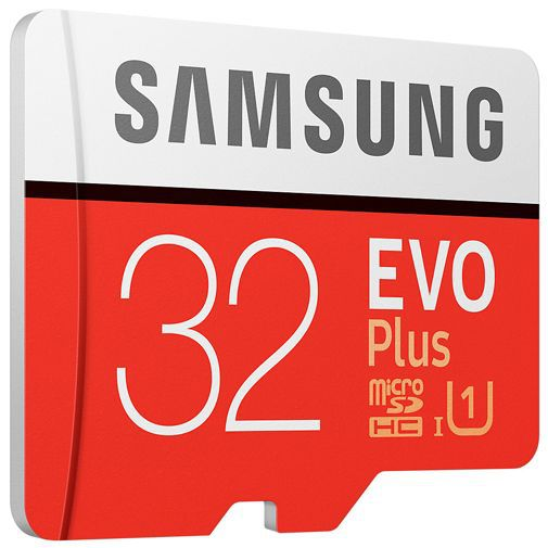 Productafbeelding van de Samsung Evo+ microSDHC 32GB Class 10 + SD-Adapter
