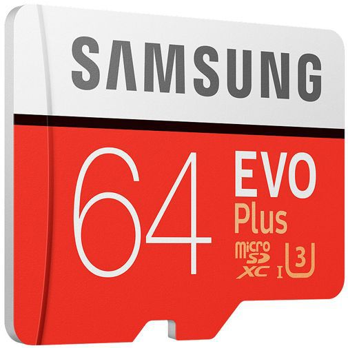 Productafbeelding van de Samsung Evo+ microSDXC 64GB Class 10 + SD-Adapter