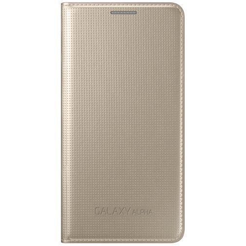 Productafbeelding van de Samsung Flip Cover Gold Galaxy Alpha