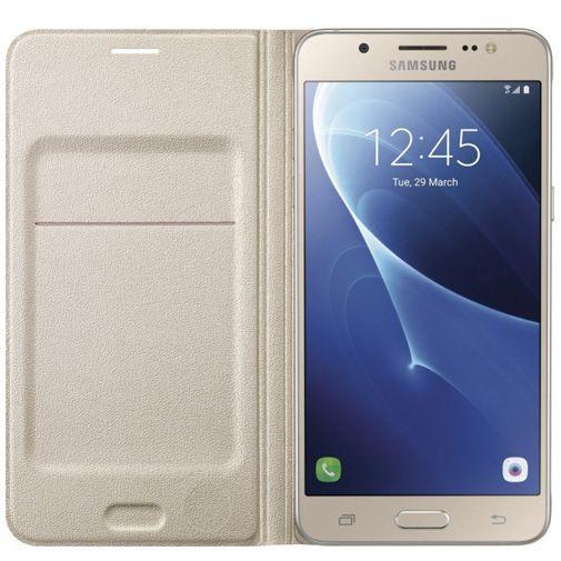 Productafbeelding van de Samsung Flip Wallet Gold Galaxy J5 (2016)