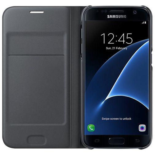 Produktimage des Samsung Flip Wallet Schwarz Galaxy S7