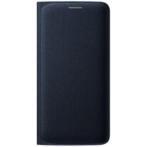 Productafbeelding van de Samsung Flip Wallet Canvas Black Galaxy S6 Edge
