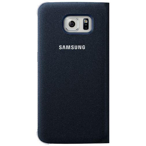 Productafbeelding van de Samsung Flip Wallet Canvas Black Galaxy S6