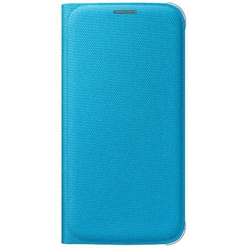 Productafbeelding van de Samsung Flip Wallet Canvas Blue Galaxy S6