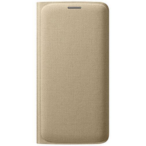Productafbeelding van de Samsung Flip Wallet Canvas Gold Galaxy S6 Edge