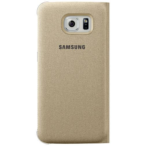 Productafbeelding van de Samsung Flip Wallet Canvas Gold Galaxy S6