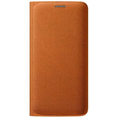 Productafbeelding van de Samsung Flip Wallet Canvas Orange Galaxy S6 Edge