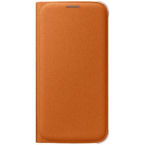 Productafbeelding van de Samsung Flip Wallet Canvas Orange Galaxy S6