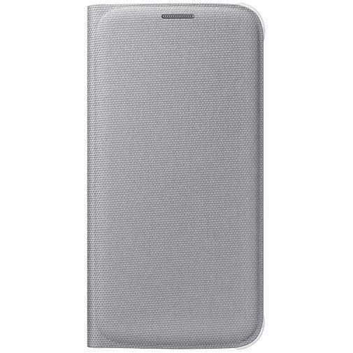 Productafbeelding van de Samsung Flip Wallet Canvas Silver Galaxy S6
