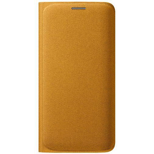 Productafbeelding van de Samsung Flip Wallet Canvas Yellow Galaxy S6 Edge