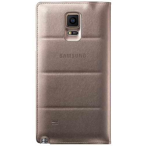 Productafbeelding van de Samsung Flip Wallet Gold Galaxy Note 4