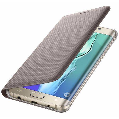 Productafbeelding van de Samsung Flip Wallet Gold Galaxy S6 Edge Plus