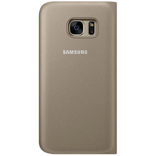 Productafbeelding van de Samsung Flip Wallet Gold Galaxy S7
