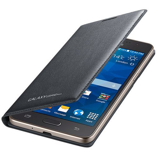 Productafbeelding van de Samsung Flip Wallet Grey Galaxy Grand Prime (VE)