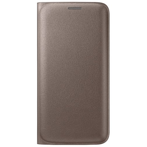 Productafbeelding van de Samsung Flip Wallet Original Gold Galaxy S6 Edge