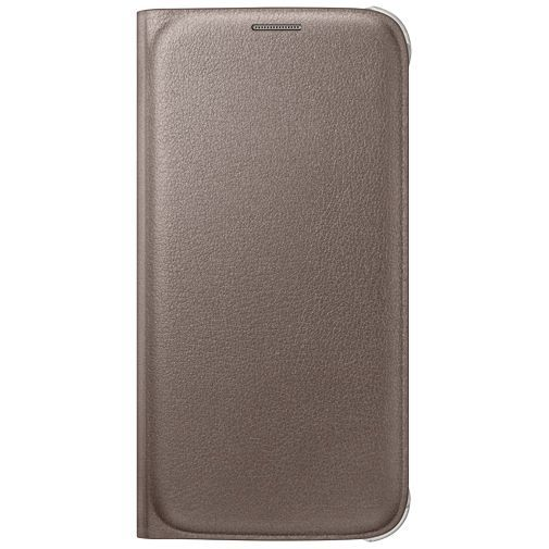 Productafbeelding van de Samsung Flip Wallet Original Gold Galaxy S6