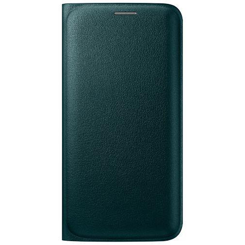 Productafbeelding van de Samsung Flip Wallet Original Green Galaxy S6 Edge