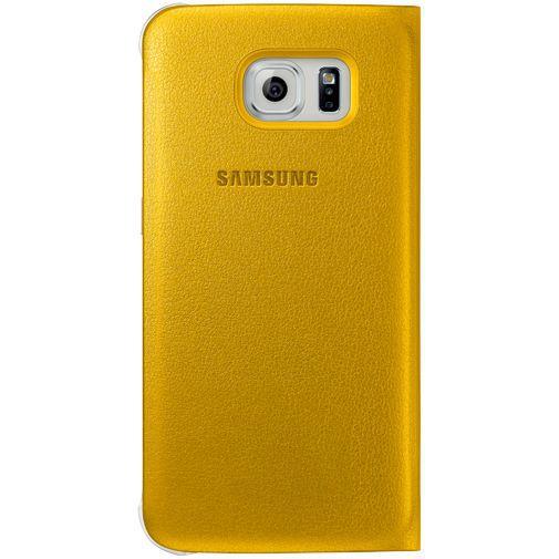 Productafbeelding van de Samsung Flip Wallet Original Yellow Galaxy S6 Edge
