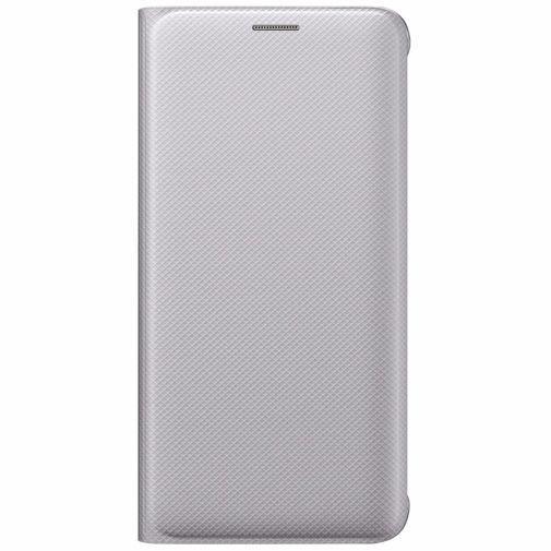 Productafbeelding van de Samsung Flip Wallet Silver Galaxy S6 Edge Plus