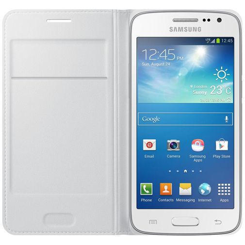 Productafbeelding van de Samsung Flip Wallet White Galaxy Core 4G