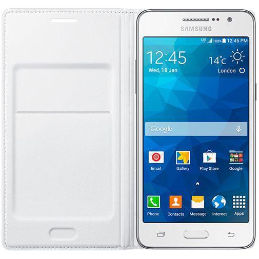 Productafbeelding van de Samsung Flip Wallet White Galaxy Grand Prime (VE)