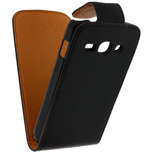 Productafbeelding van de Xccess Leather Flip Case Black Samsung Galaxy Ace 3 S7275