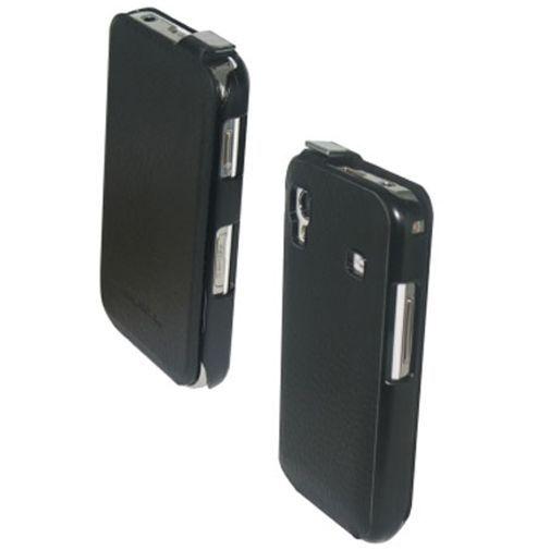 Productafbeelding van de Samsung Galaxy Ace Leather Flip Case Black
