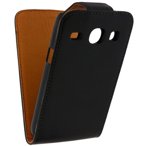 Productafbeelding van de Xccess Leather Flip Case Black Samsung Galaxy Core i8260