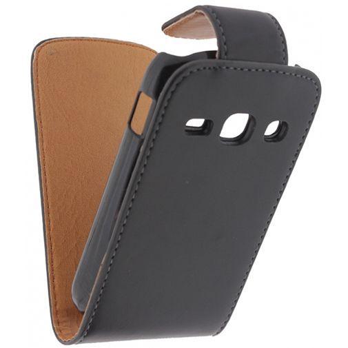 Productafbeelding van de Xccess Leather Flip Case Black Samsung Galaxy Fame S6810