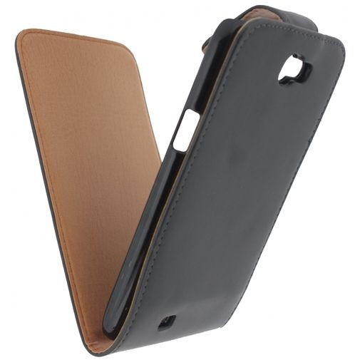 Productafbeelding van de Xccess Leather Flip Case Black Samsung Galaxy Note 2 N7100