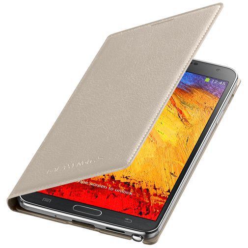 Productafbeelding van de Samsung Galaxy Note 3 Flip Wallet Beige