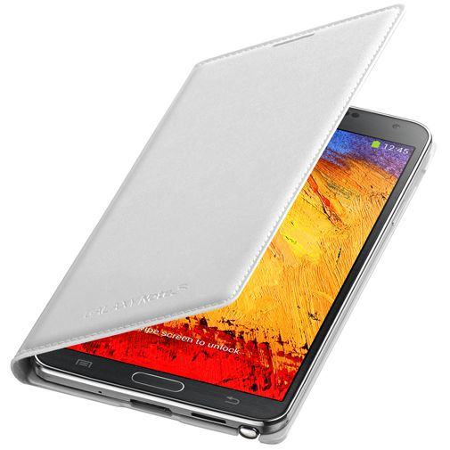 Productafbeelding van de Samsung Galaxy Note 3 Flip Wallet White
