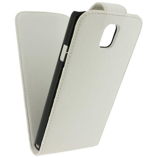 Productafbeelding van de Xccess Leather Flip Case White Samsung Galaxy Note 3 N9005