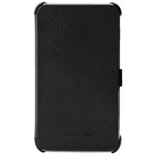 Productafbeelding van de Samsung Galaxy Note Leather Flip Case Black